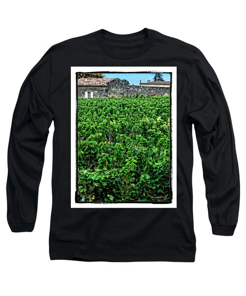 Long Sleeve T-Shirt featuring the photograph St. Emilion Winery by Joan  Minchak