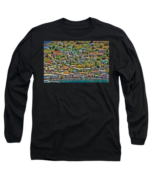 St. Georges Harbor Grenada Long Sleeve T-Shirt