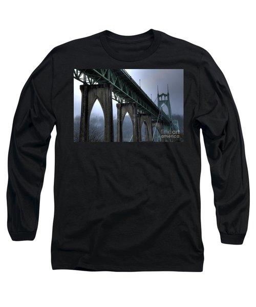 St Johns Bridge Oregon Long Sleeve T-Shirt