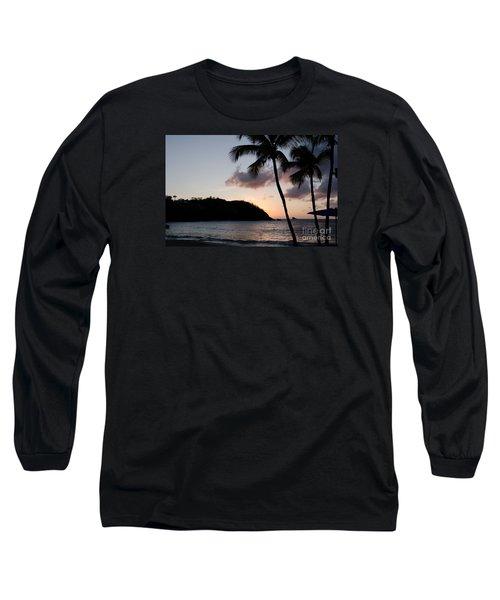 St. Lucian Sunset Long Sleeve T-Shirt