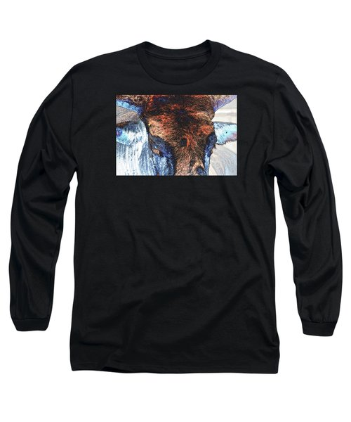 St Paul Rodeo Bull 25407 Neon Long Sleeve T-Shirt by Jerry Sodorff