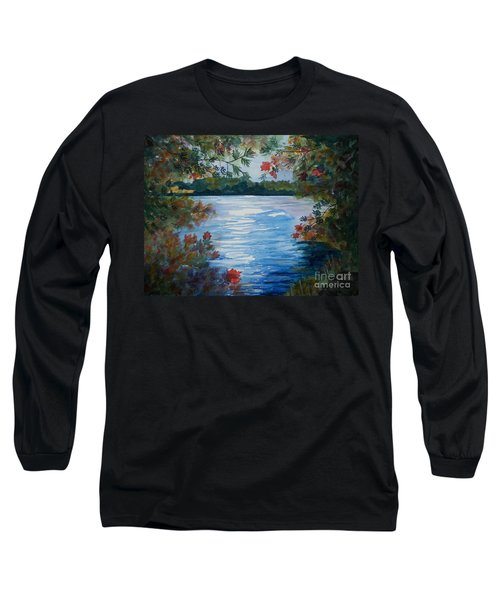 St. Regis Lake Long Sleeve T-Shirt by Ellen Levinson