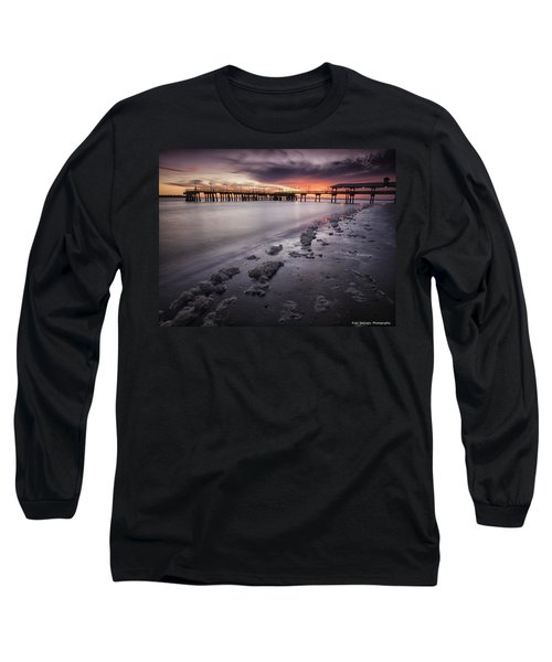 St. Simons Pier At Sunset Long Sleeve T-Shirt