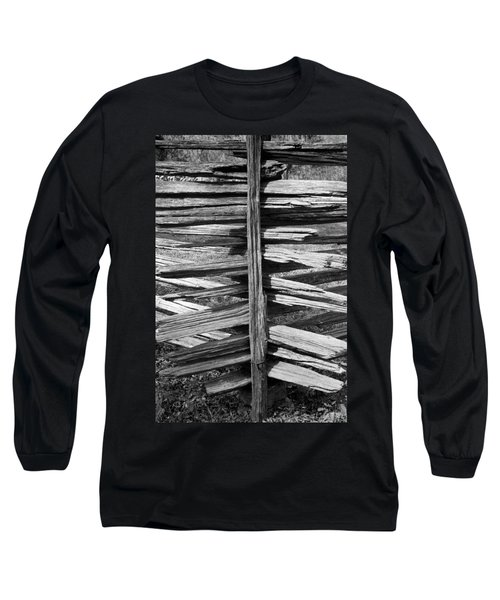 Long Sleeve T-Shirt featuring the photograph Stacked Fence by Lynn Palmer