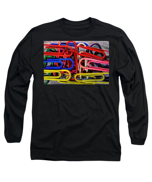 Stacks Of Clips Long Sleeve T-Shirt