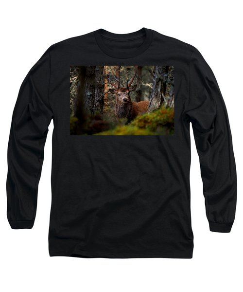Stag In The Woods Long Sleeve T-Shirt
