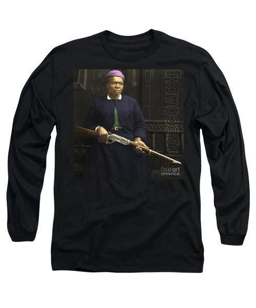 Stagecoach Mary Fields 20130518 Square With Text Long Sleeve T-Shirt