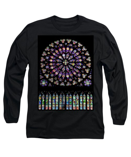 Stained Glass At Notre Dame Long Sleeve T-Shirt