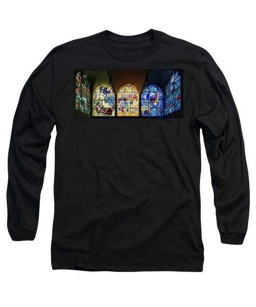 Stained Glass Chagall Windows Long Sleeve T-Shirt