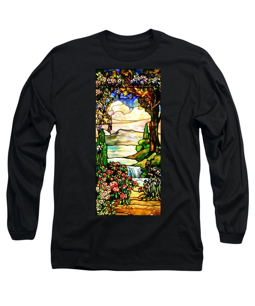 Stained Glass No Border Long Sleeve T-Shirt by Kristin Elmquist