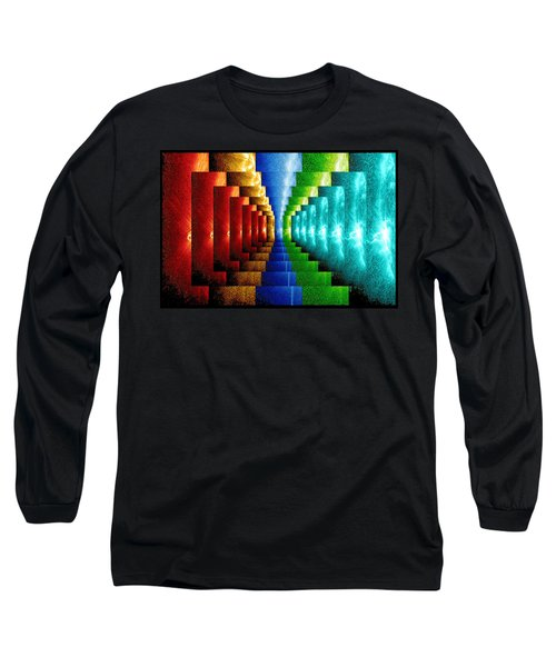 Long Sleeve T-Shirt featuring the digital art Stairsteps by Paula Ayers