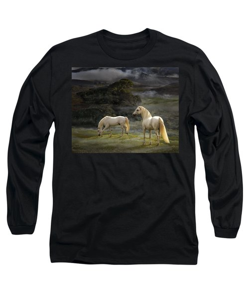 Stallions Of The Gods Long Sleeve T-Shirt by Melinda Hughes-Berland