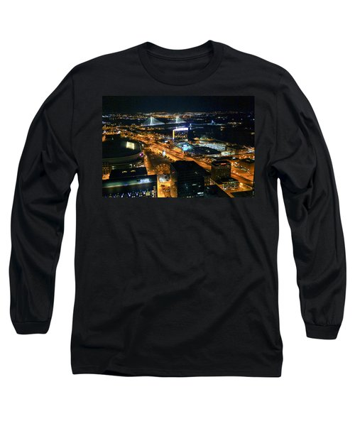 Stan Musial Bridge In St Louis Mo Dsc03215 Long Sleeve T-Shirt by Greg Kluempers