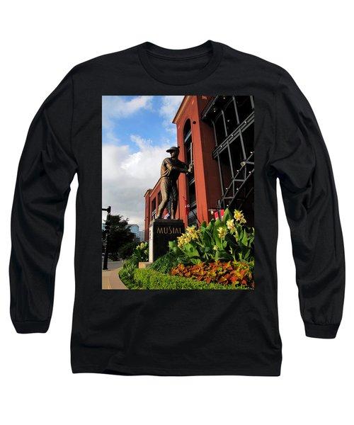 Stan Musial Statue Long Sleeve T-Shirt