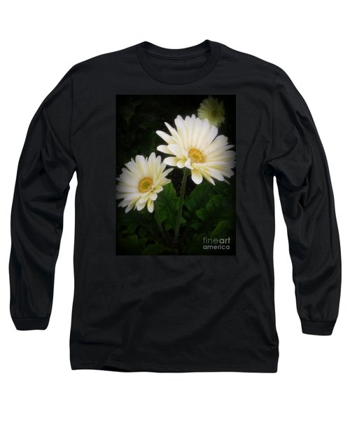 Stand By Me Gerber Daisy Long Sleeve T-Shirt by Lingfai Leung
