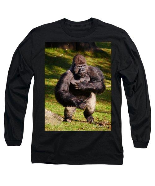 Standing Silverback Gorilla Long Sleeve T-Shirt