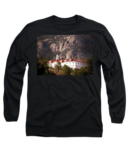Stanley Hotel Estes Park Long Sleeve T-Shirt by Marilyn Hunt