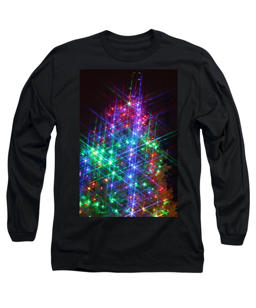 Long Sleeve T-Shirt featuring the photograph Star Like Christmas Lights by Patrice Zinck