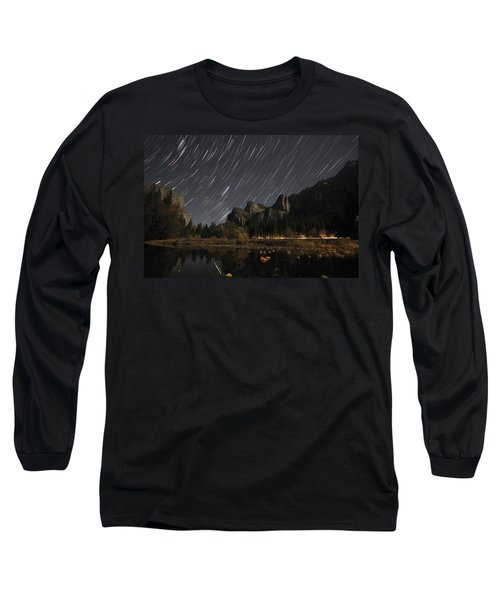 Star Trails Over Yosemite Long Sleeve T-Shirt