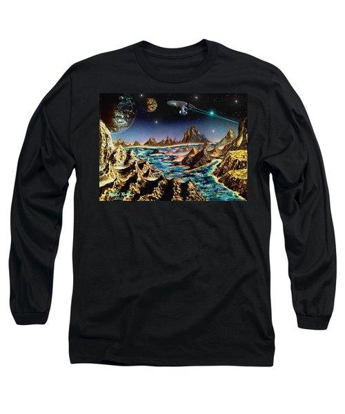 Star Trek - Orbiting Planet Long Sleeve T-Shirt by Michael Rucker