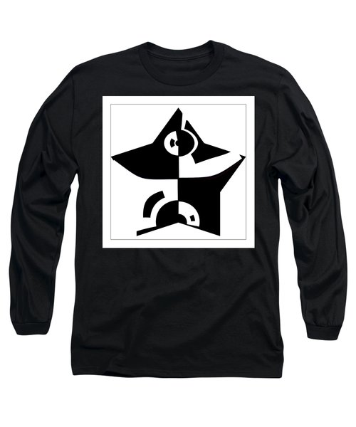 Long Sleeve T-Shirt featuring the digital art Star by Wendy J St Christopher