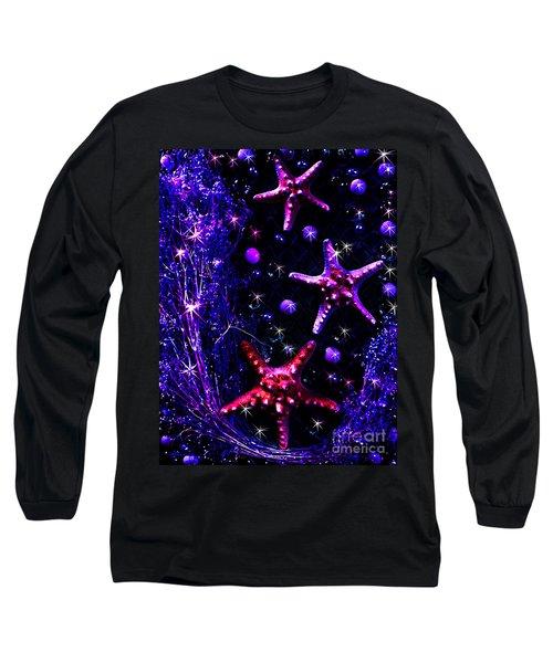 Starfish Galaxy Long Sleeve T-Shirt by Patricia L Davidson