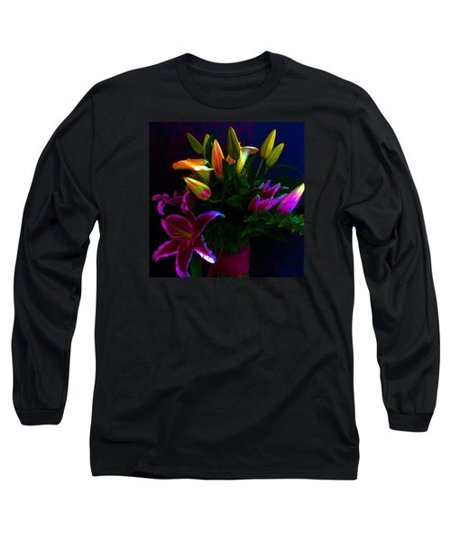 Stargazer Bouquet Long Sleeve T-Shirt by Carolyn Repka