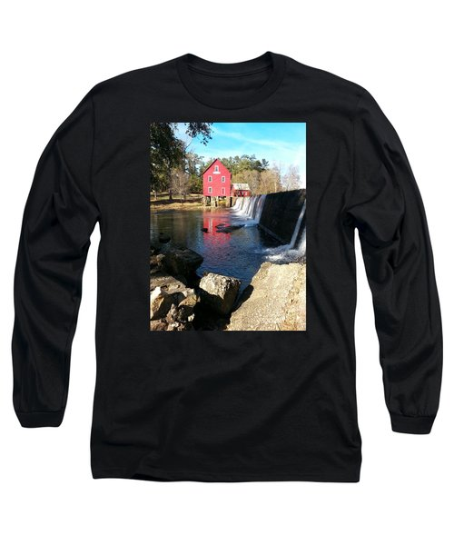 Long Sleeve T-Shirt featuring the photograph Starr's Mill In Senioa Georgia 2 by Donna Brown