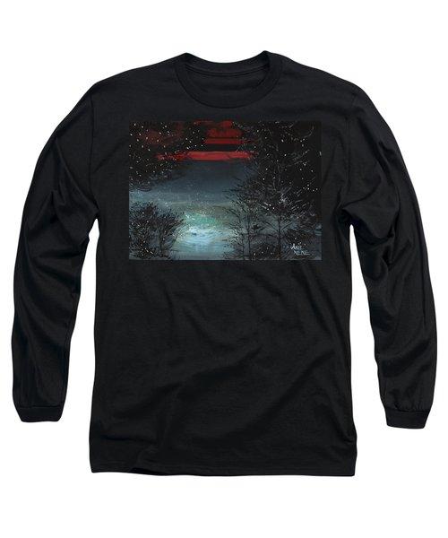 Starry Night Long Sleeve T-Shirt by Anil Nene