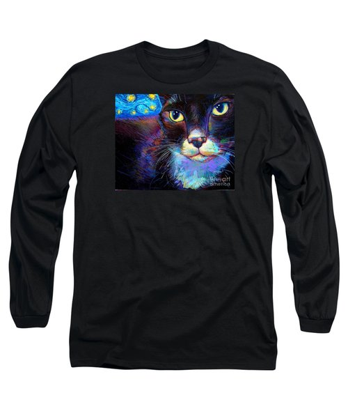 Long Sleeve T-Shirt featuring the painting Starry Night Jack by Robert Phelps