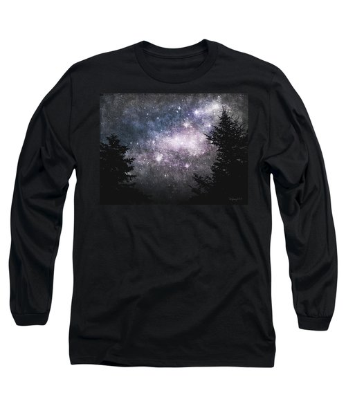 Starry Starry Night Long Sleeve T-Shirt by Cynthia Lassiter