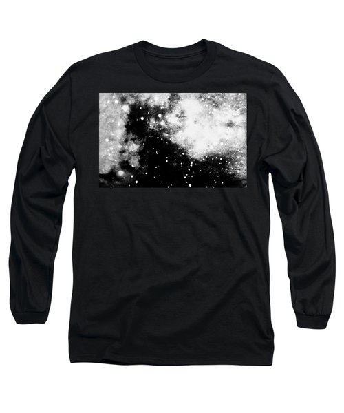 Stars And Cloud-like Forms In A Night Sky Long Sleeve T-Shirt