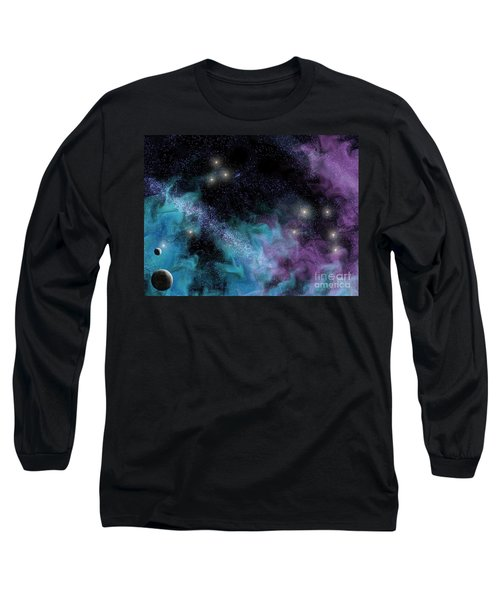 Starscape Nebula Long Sleeve T-Shirt by Antony McAulay