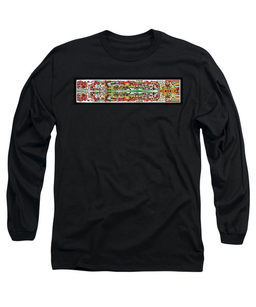 State Of Independence Postage Stamp Print Long Sleeve T-Shirt by Andy Prendy