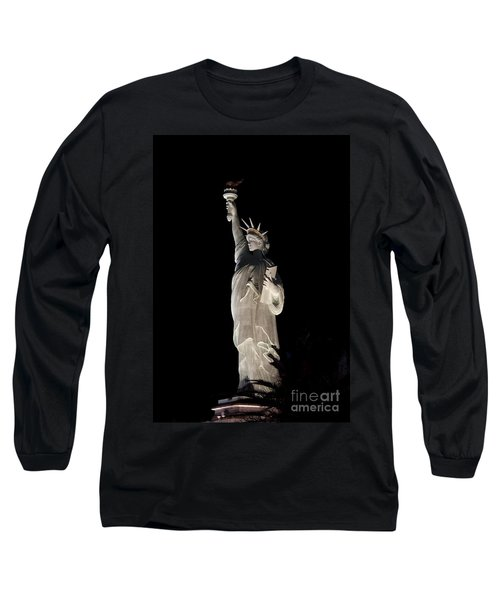 Statue Of Liberty After Midnight Long Sleeve T-Shirt by Ivete Basso Photography