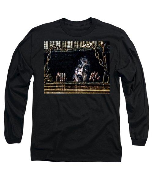 Stay Out Of The Basement Long Sleeve T-Shirt by Joe Misrasi