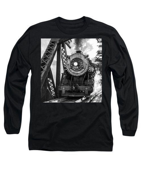 Steam Engine 734 Leaving The Narrows Long Sleeve T-Shirt