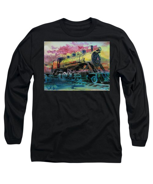 Vintage Long Sleeve T-Shirt featuring the photograph Steam Powered by Aaron Berg