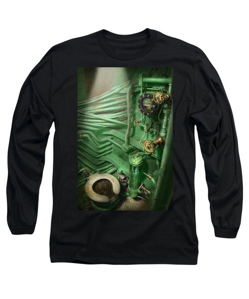 Steampunk - Naval - Plumbing - The Head Long Sleeve T-Shirt