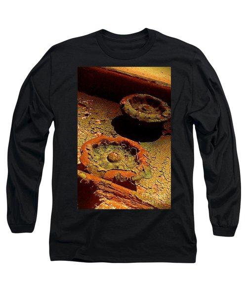 Long Sleeve T-Shirt featuring the photograph Steel Flowers by James Aiken