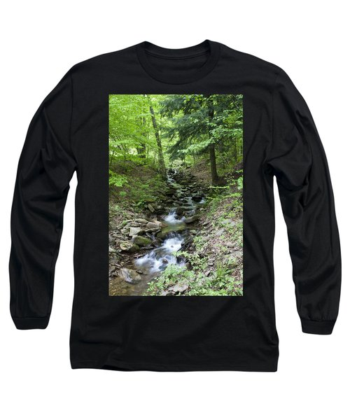 Stepped Water Fall Long Sleeve T-Shirt