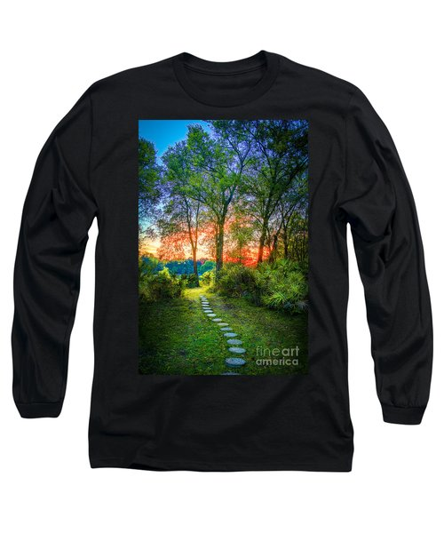 Stepping Stones To The Light Long Sleeve T-Shirt by Marvin Spates