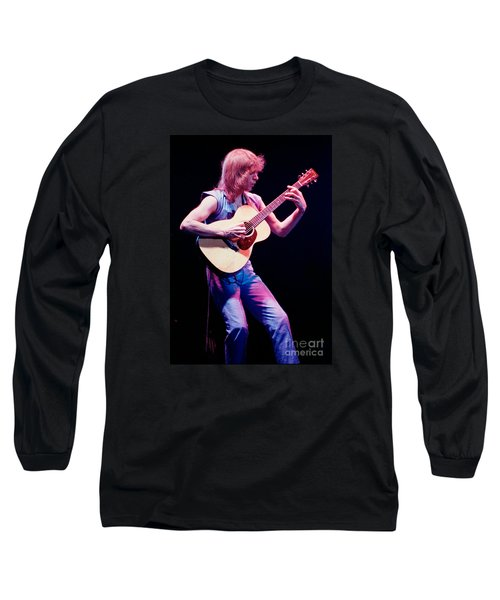 Steve Howe Of Yes Performing The Clap Long Sleeve T-Shirt