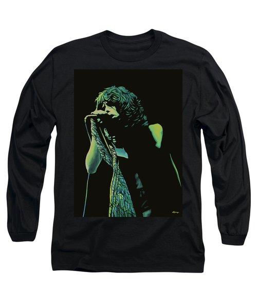 Steven Tyler 2 Long Sleeve T-Shirt by Paul Meijering