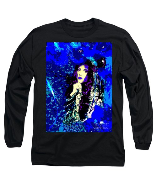 Stevie Nicks In Blue Long Sleeve T-Shirt