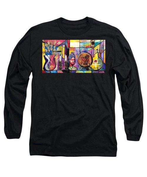 Still Life  / Carols Mantel Long Sleeve T-Shirt by Everett Spruill