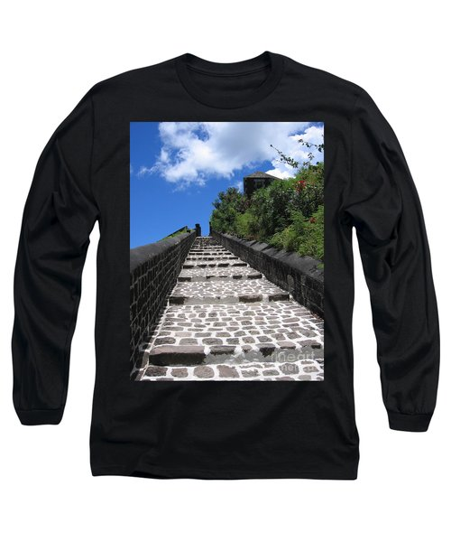 Long Sleeve T-Shirt featuring the photograph St.kitts - Ascent by HEVi FineArt