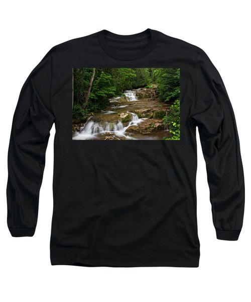 Long Sleeve T-Shirt featuring the photograph Stockbridge Falls by Dave Files