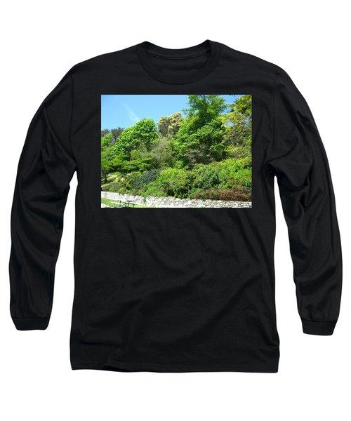 Stone Wall 2 Long Sleeve T-Shirt by David Trotter
