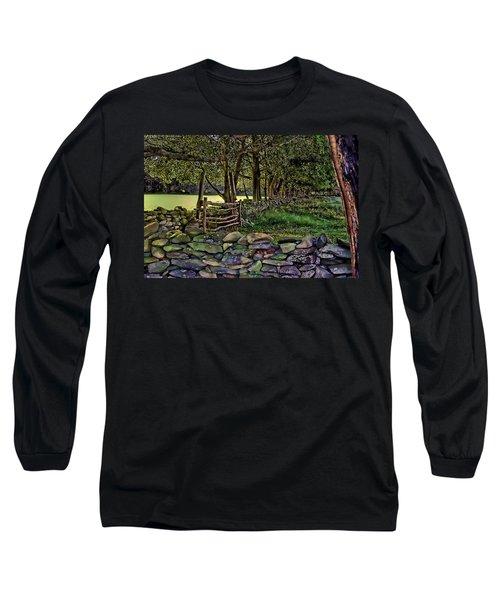 Stone Walled Long Sleeve T-Shirt by Tom Prendergast